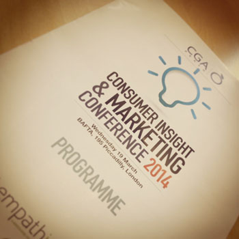 Foodservice PR Agency - Consumer Insight and Marketing Conference 2014