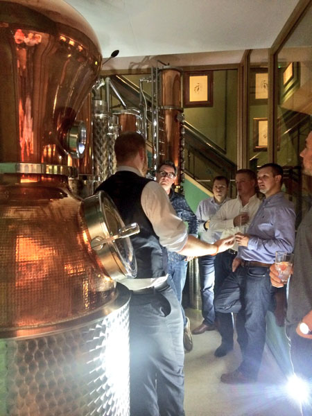 Foodservice Marketing Agency - The City of London Distillery Tour with Wirehive