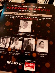 A Michelin evening with Raymond Blanc - The Programme