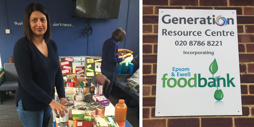 Dalbir Bansal – Epsom & Ewell Foodbank – Jellybean's 12 Days of Giving