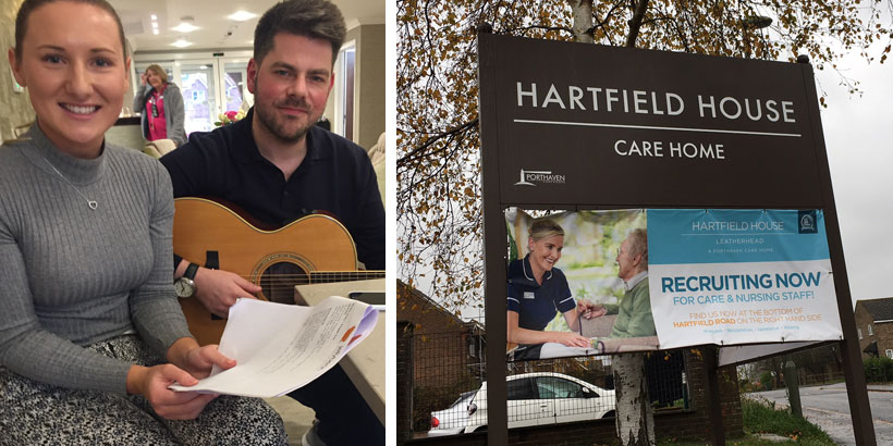 Jess Sewell & Nick Clancy – Hartfield House Care Home – Jellybean's 12 Days of Giving