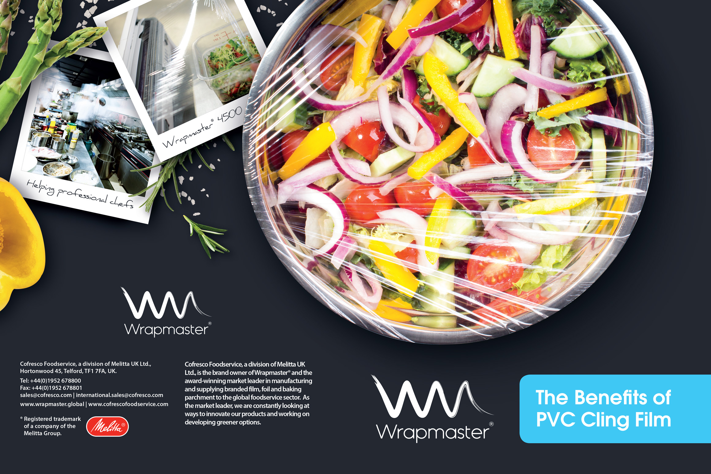 Life in any kitchen is never without its challenges and for the foodservice sector being sustainable is key in all areas of the business, especially in today's 'plastic storm'.  Wrapmaster has been trusted by professional chefs for over 20 years for their award-winning range of catering dispensers. In-light of the recent crisis over single use plastics, they set us the difficult task of creating a transparent (excuse the pun), hard hitting campaign that highlighted the benefits of using PVC cling film whilst counteracting the misconceptions on PVC cling film.